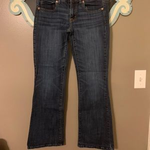 Boot cut American eagle jeans.